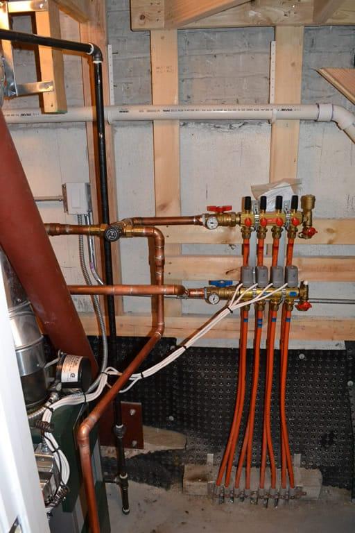 Radiant Floor Heat Installation   Basement