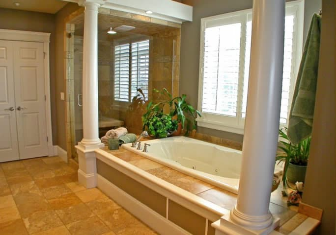 luxury master bathroom remodel winetka il